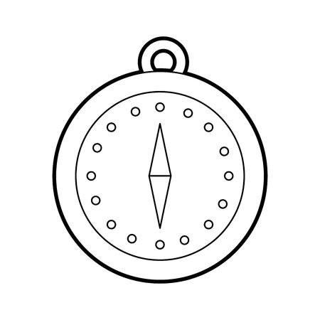磁気コンパス ナビゲーション オリエンテーリングと場所ポイント ベクトル図  イラスト・ベクター素材