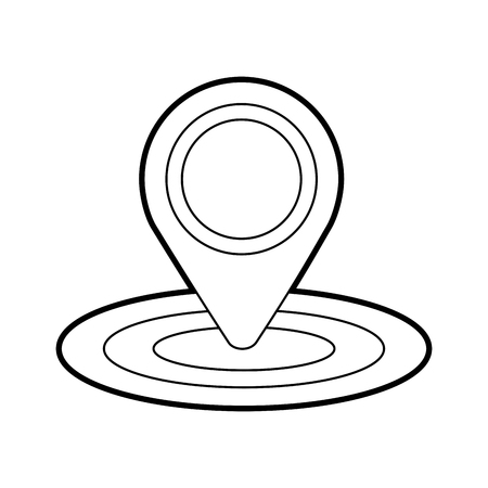 ピン地図 gps 場所サイン ナビゲーション ベクトル図  イラスト・ベクター素材