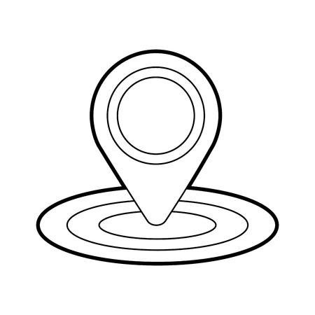 Pin mapa gps ubicación signo navegación vector ilustración Foto de archivo - 87111680