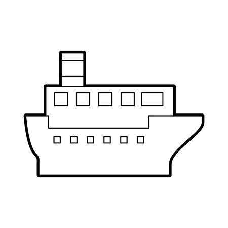 sea transportation logistic maritime shipping cargo ship vector illustration Stock Vector - 87111701