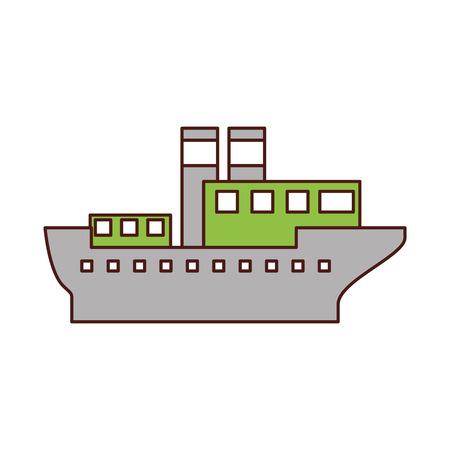 sea transportation logistic maritime shipping cargo ship vector illustration