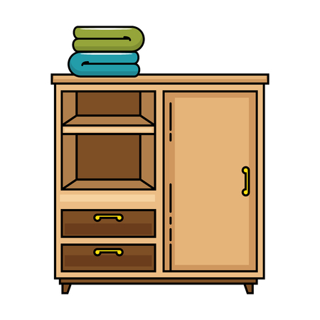 closet with clothes icon vector illustration design