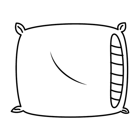 comfortable pillow isolated icon vector illustration design Ilustração