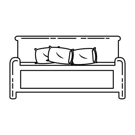 快適なベッドは、アイコン ベクトル イラスト デザインを分離しました。