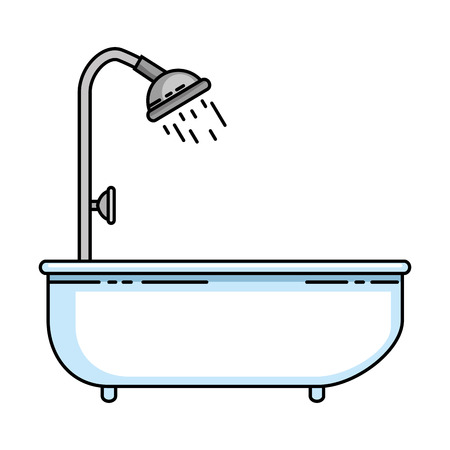home bathtub isolated icon vector illustration design Illustration