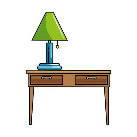 table with lamp icon vector illustration design Ilustração