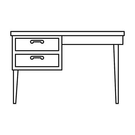table desk isolated icon vector illustration design