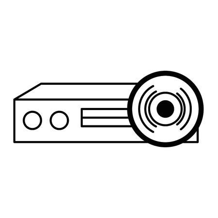 video beam projector pictogram vector illustratie ontwerp