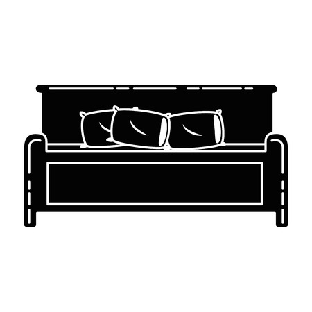 comfortable bed isolated icon vector illustration design 版權商用圖片 - 87229877