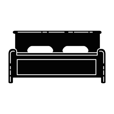 comfortable bed isolated icon vector illustration design Ilustracja
