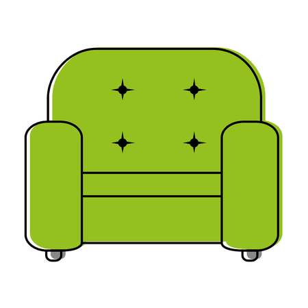 divan: comfortable sofa isolated icon vector illustration design Vectores