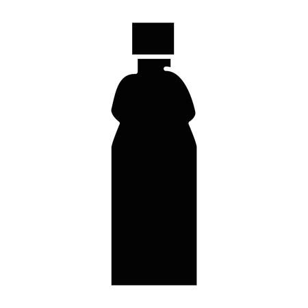 Plastic fles geïsoleerd pictogram vector illustratieontwerp Stockfoto - 87229930