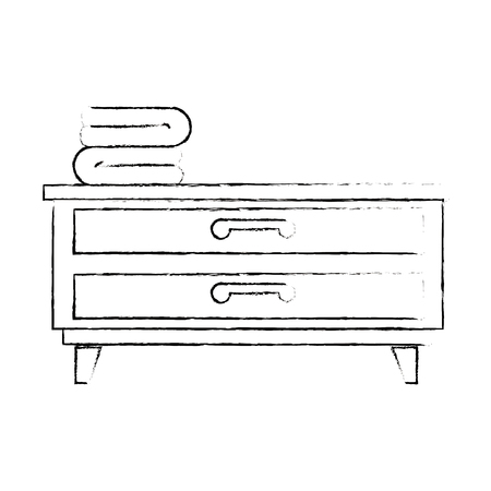 bedroom drawer with clothes vector illustration design 向量圖像