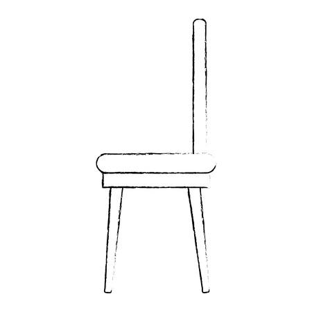 Esszimmer Stuhl Symbol Vektor Illustration design Standard-Bild - 87229987