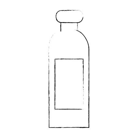 플라스틱 병 격리 된 아이콘 벡터 일러스트 디자인