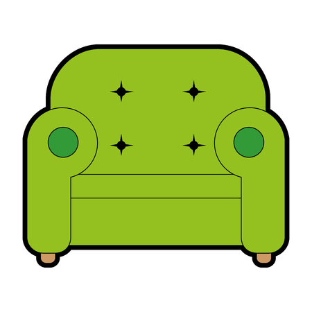 comfortable: comfortable sofa isolated icon vector illustration design Illustration