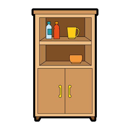 부엌 캐비닛 격리 아이콘 벡터 일러스트 디자인