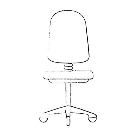 Chaise de bureau isolé icône du design illustration vectorielle Banque d'images - 87230017