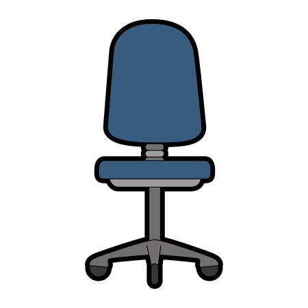 Chaise de bureau isolé icône du design illustration vectorielle Banque d'images - 87230023