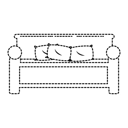 comfortable bed isolated icon vector illustration design 向量圖像