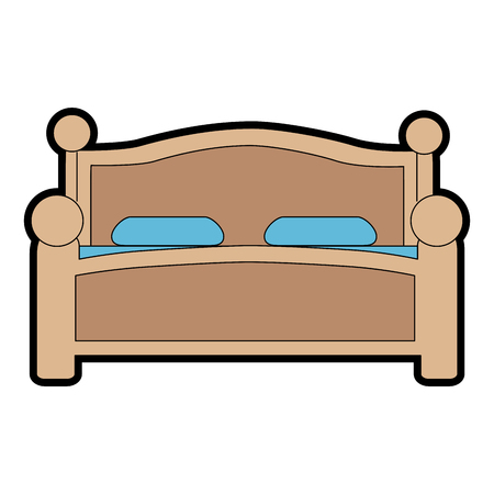 comfortable bed isolated icon vector illustration design Illustration