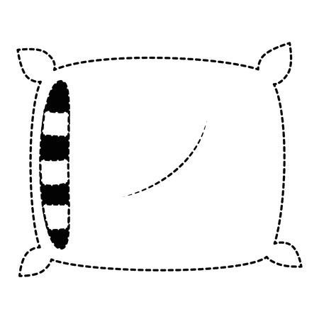 comfortabel hoofdkussen geïsoleerd pictogram vectorillustratieontwerp