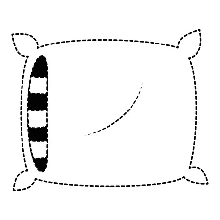 comfortable pillow isolated icon vector illustration design Illustration