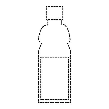 plastic fles geïsoleerd pictogram vector illustratieontwerp Stock Illustratie