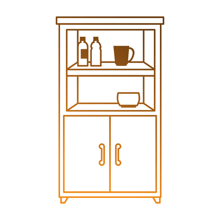 kitchen cabinet isolated icon vector illustration design