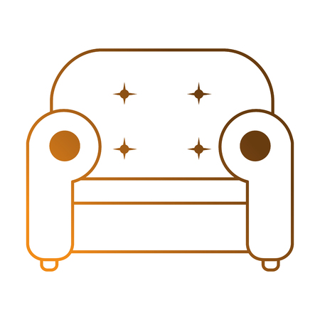 comfortable sofa isolated icon vector illustration design Illustration