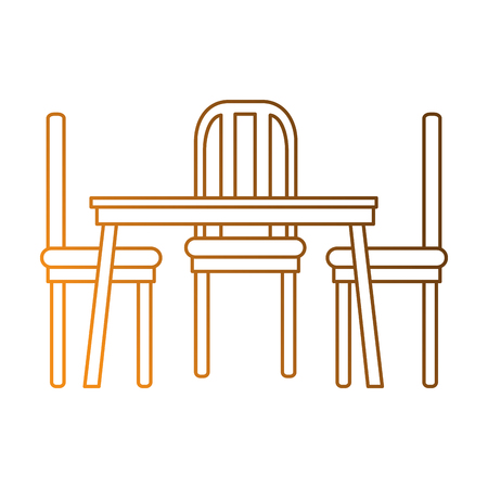 dining table and chairs vector illustration design Ilustrace
