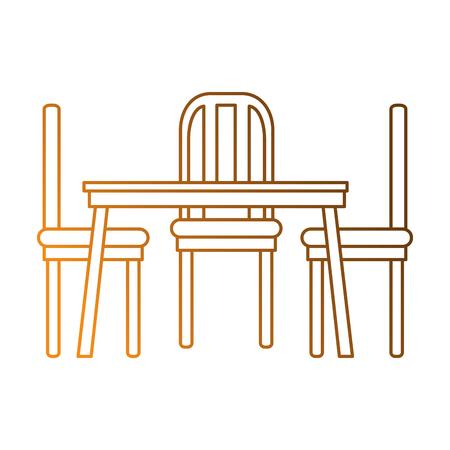 Esstisch und Stühle Vektor-Illustration-design Standard-Bild - 87230079