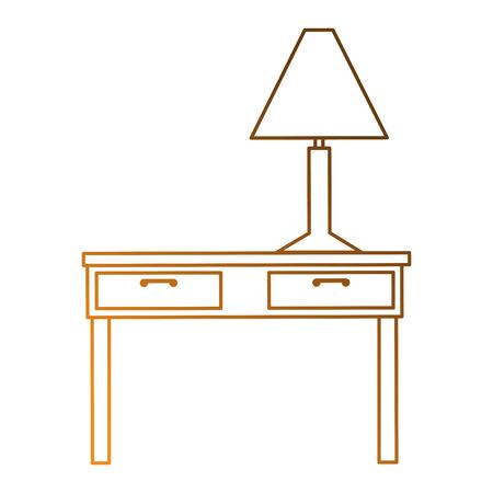 테이블 램프 아이콘 벡터 일러스트 레이 션 디자인
