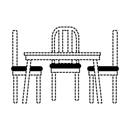 dining table and chairs vector illustration design Illusztráció