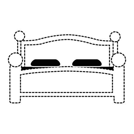 快適なベッドは、アイコン ベクトル イラスト デザインを分離しました。 写真素材 - 87230089