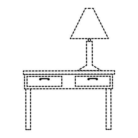 table with lamp icon vector illustration design Ilustração