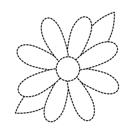 아름다움 해바라기 격리 된 아이콘 벡터 일러스트 디자인