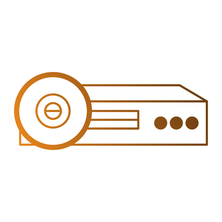Video beam projector pictogram vector illustratie ontwerp Stockfoto - 87230122