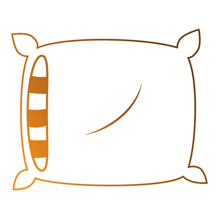 comfortable pillow isolated icon vector illustration design Banco de Imagens - 87230128