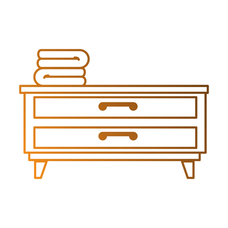 bedroom drawer with clothes vector illustration design Illustration