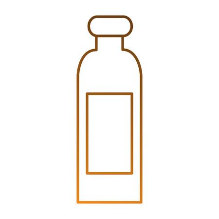 Plastic fles geïsoleerd pictogram vector illustratieontwerp Stockfoto - 87230148