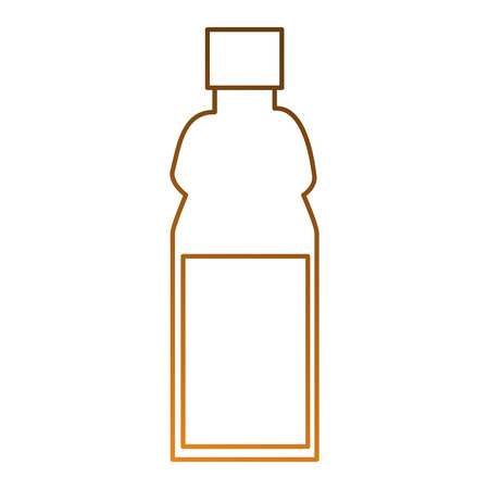 plastic bottle isolated icon vector illustration design Ilustrace