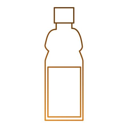 Plastic fles geïsoleerd pictogram vector illustratieontwerp Stockfoto - 87230156