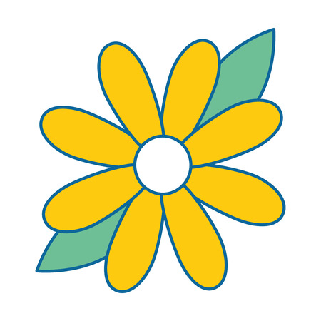 beauty sunflower isolated icon vector illustration design Ilustração