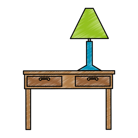 table with lamp icon vector illustration design Иллюстрация