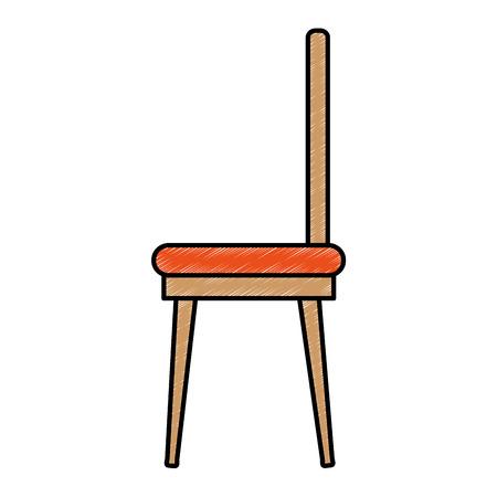 eetkamer stoel pictogram vector illustratie ontwerp