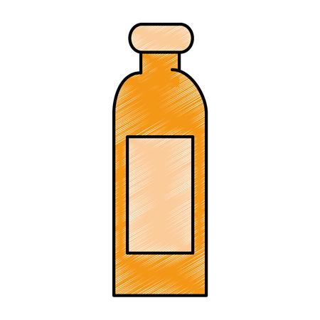 Plastic fles geïsoleerd pictogram vector illustratieontwerp Stockfoto - 87230226