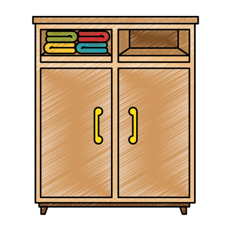 closet with clothes icon vector illustration design Banco de Imagens - 87230229