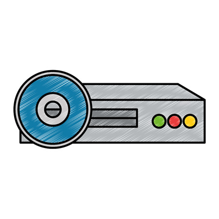 Video beam projector pictogram vector illustratie ontwerp Stockfoto - 87230239