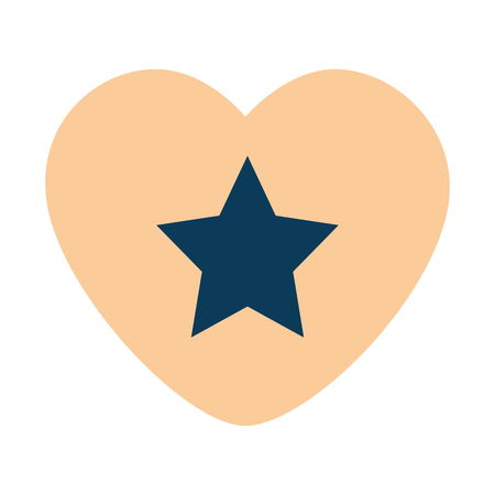 heart with star isolated icon vector illustration design Ilustração